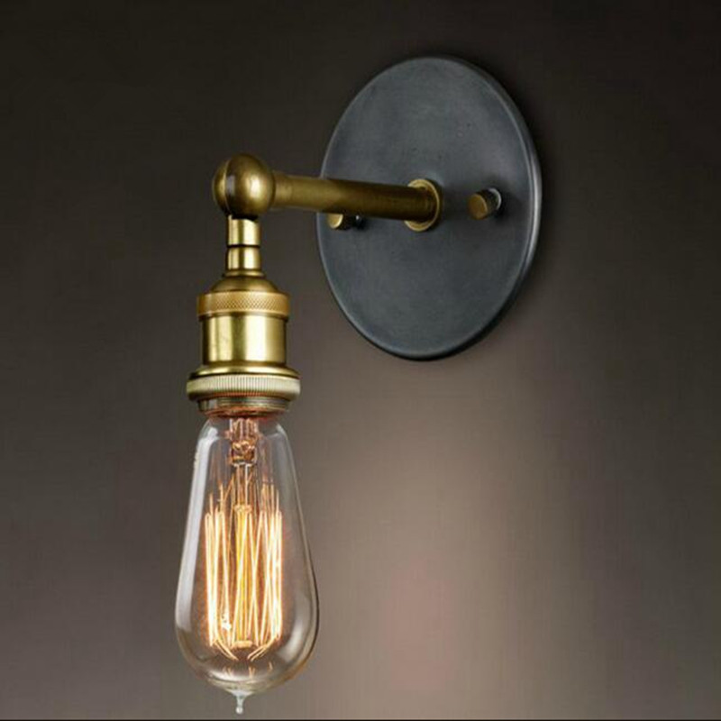 Retro Lamp-chimney Industrial Brass Pendant Light Edison Lamp Wall Lamp