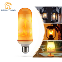BRIGHTINWD 3 Models LED Flame Effect Simulated Nature Fire Light Bulbs E27 Decoration Lamp