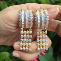 ModemAngel Luxury Delicate Luxury Super AAA Cubic Zirconia Jewelry Women Lovers Engagement Party Gifts Earrings Accessories