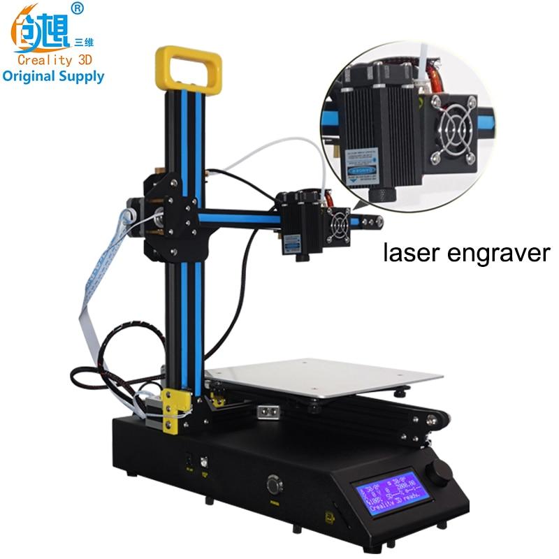 2018 Новый высокое качество Desktop creality 3D CR 8 3D принтеры с лазерная головка может 3D принтом + лазерная гравировка Бесплатная доставка