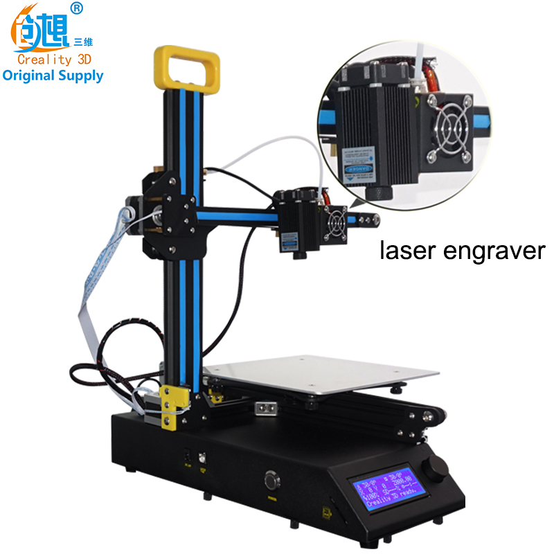 2018 New High Quality Desktop Creality 3D CR 8 3D Printer With Laser Head Can 3D Printing + Laser Engraving Free Shipping