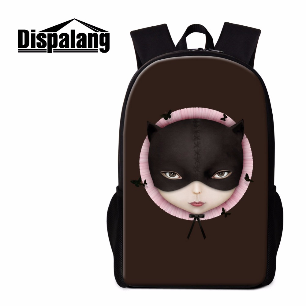 Dispalang Cool Backpack for Teen Girls Doll 3D Pattern School Back Pack Cute BookBag for Children Girly Mochilas Traveling Bags