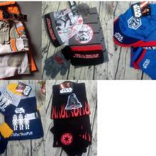 1 комплект, Вязаная Шапка-бини с рисунком из мультфильма «Звездные войны», детский Рождественский зимний вязаный шарф, перчатки, шапка, вечерние подарки для детей, От 2 до 8 лет
