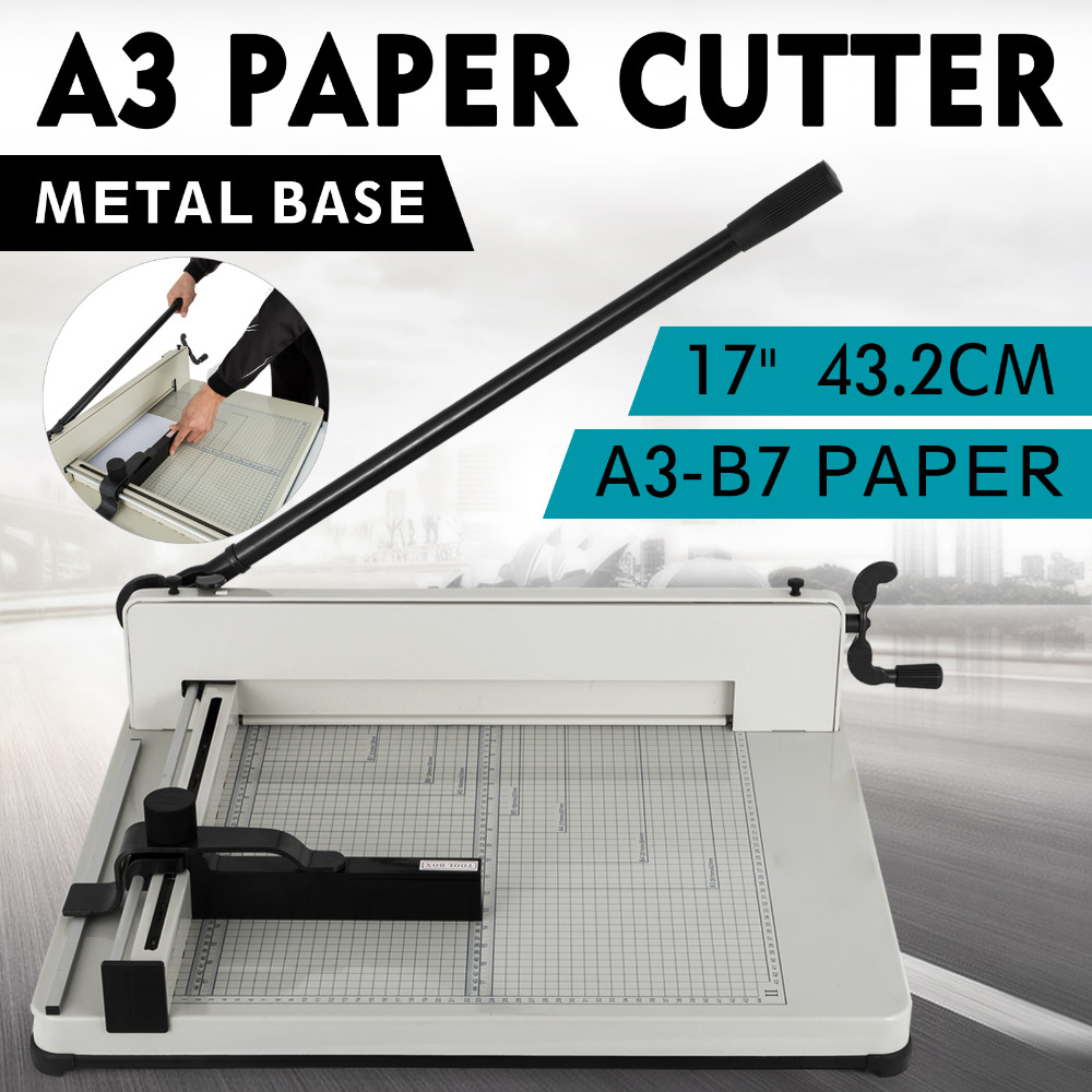 """VEVOR Heavy Duty Steel 17"""" Industrial A3 Paper Cutter Guillotine Perfect Metal Base Scrap booking Industrial 400 Sheets"""