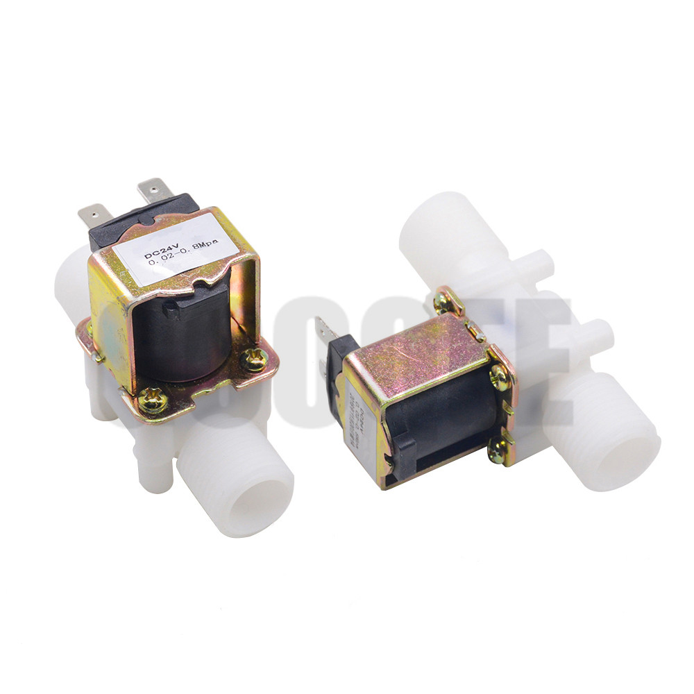 "1/2"" Plastic Solenoid Valve 12V 24V 220V Magnetic Washing Machine Dispenser Drinking Water Pneumatic Pressure Controller Switch 5"