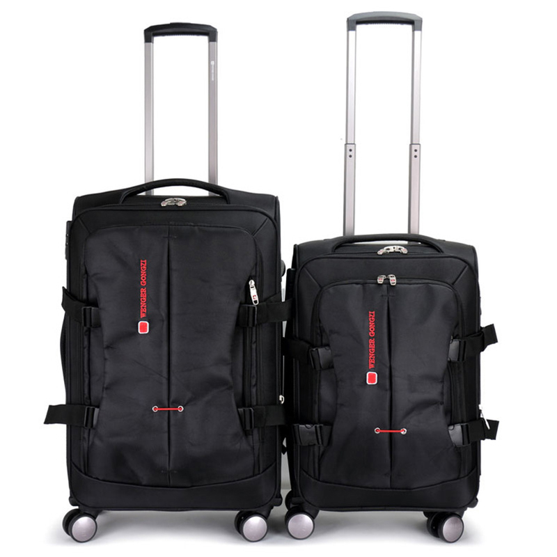 Letrend Rolling Luggage Spinner 20/24/28 inch Suitcases Wheel Men Oxford High Capacity Trolley Business Carry On Travel Duffle