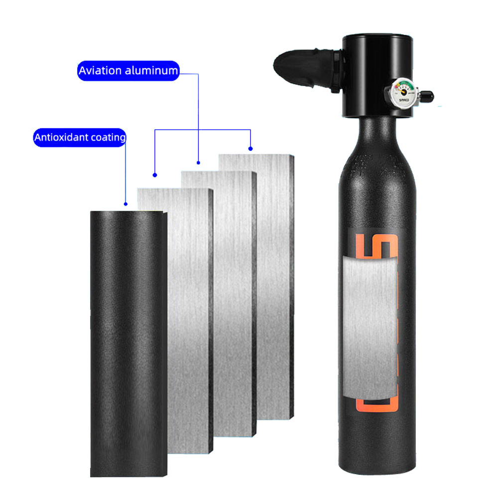 SMACO Diving Equipment Mini Scuba Diving Cylinder Scuba Oxygen Tank for Snorkeling Underwater Swimming Breathing Accessories
