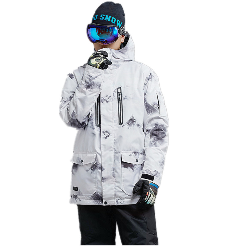 GSOU SNOW Winter Outdoor Men's Ski Jackets windproof Skiing Suits Waterproof Snowboard Jackets Breathable keep warm Snow Coats marsnow warm winter children ski jacket boys girls skiing snowboard jackets child windproof waterproof outdoor snow coats kids