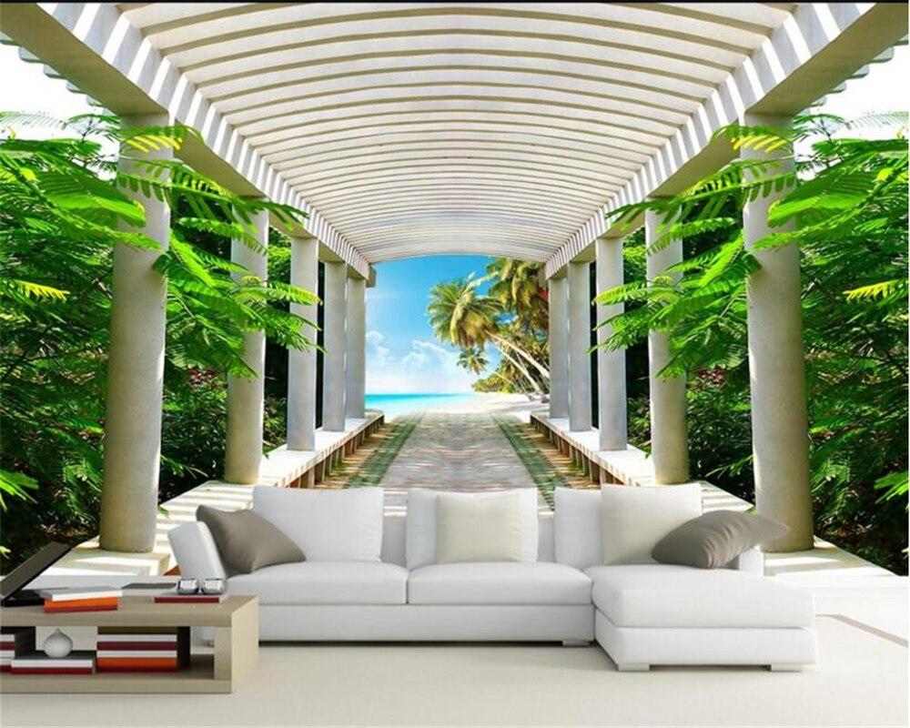 Обои для стен 3 d HD, натуральный пейзаж, просторное пространство для коридора, гостиной, ТВ, обои для украшения стен