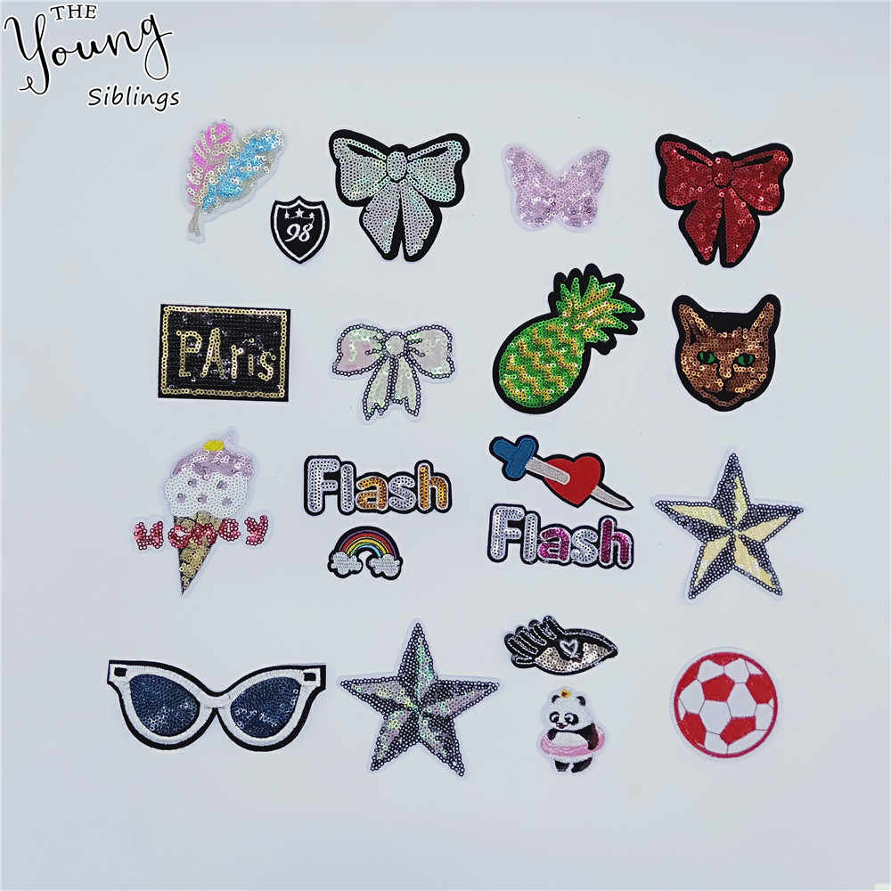 Nieuwe aankomen Cartoon Borduren patch smeltlijm Patch Pailletten DIY Ijzer op patch Badges Kleding Versieren Naaien Accessoire