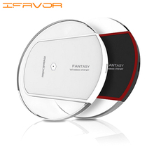 Ifavor Для Фантазии Qi Стандартное Беспроводное Зарядное Устройство Безграничные Зарядки Комплект для Samsung Galaxy S4/S5/Note4 Ultra Slim WirelessCharger
