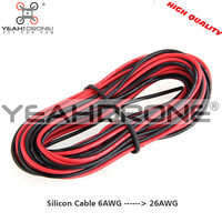 6AWG Silicon Cable 1m Red 1m Black Silicon Wire Heatproof Silicone Gel Wire Cable Factory Supply