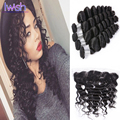 Iwish Brazilian Virgin Hair With Frontal 4 Bundles Loose Wave With Frontal  Brazilian Loose Wave Virgin Hair With Frontal