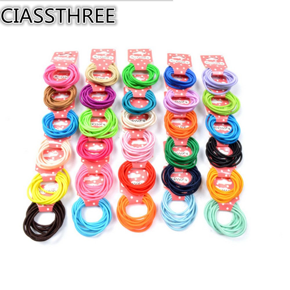 10PCS/pack Girl Elastic Bands Ponytail Holder Rubber Hair Tie Ropes Multicolor new 10pcs women lady hair band velvet elastic ponytail tie bow rubber bobbles lovely