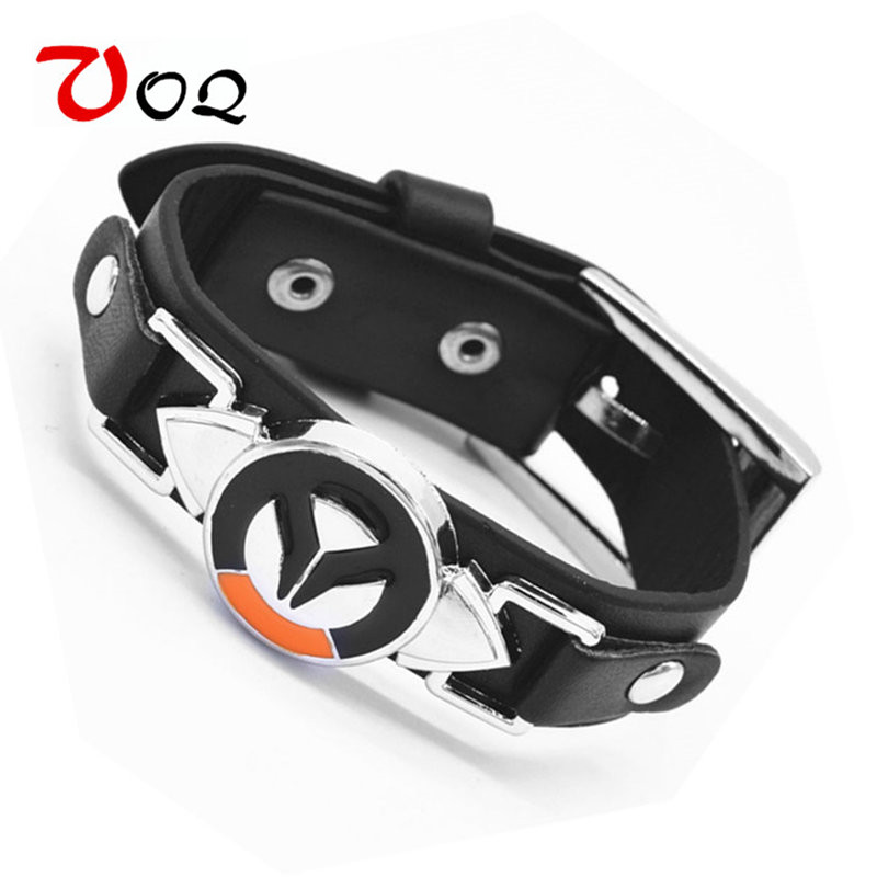 Black Friday Game Overwatch Armband Mannen Tracer Reaper OW Game Armbanden Entertainment Logo overwatch Armband Leren Armband