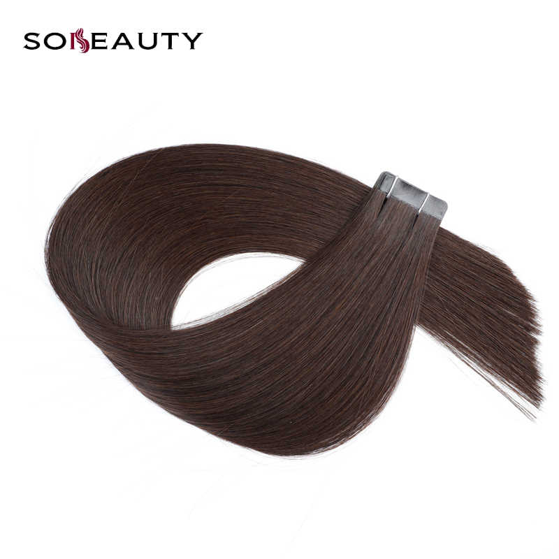 Sobeauty Real Brazilian Human Hair Skin Weft  Tape in Hair 20PCS  Tape Hair  Remy hair  adhesive extensions double drawn Hair