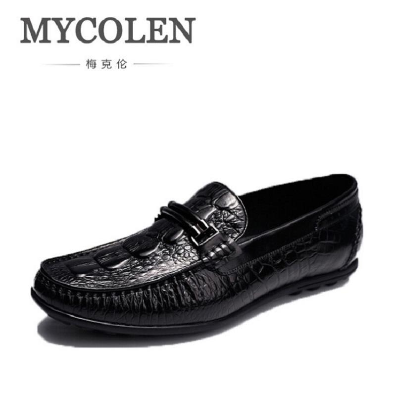 MYCOLEN Brand Men Shoes 2017 New Casual Breathable Comfortable Men Loafers Luxury Men's Flats Vintage Style Mocassim Masculino 2017 new men fashion casual microfiber genuine leather shoes men luxury brand flats shoes comfortable breathable driving loafers