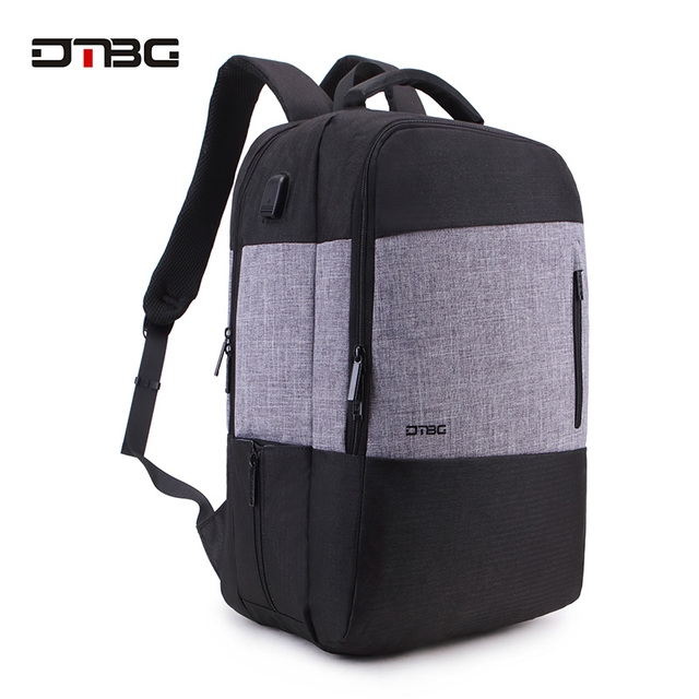 DTBG Fashion Patchwork School Backpack Smart Laptop Backpacks With USB Charging Port Waterproof Large Capacity Slim Bag For Girl