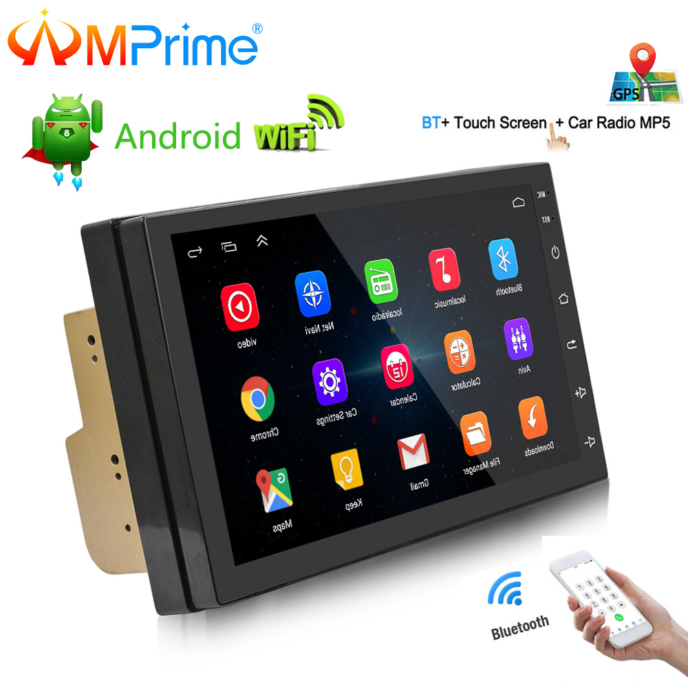 "AMPrime 7"" 2 din Car Radio Android 6.0 Car Multimedia Player Bluetooth GPS Navigation In Dash WIFI Mirror Link USB Audio Player"