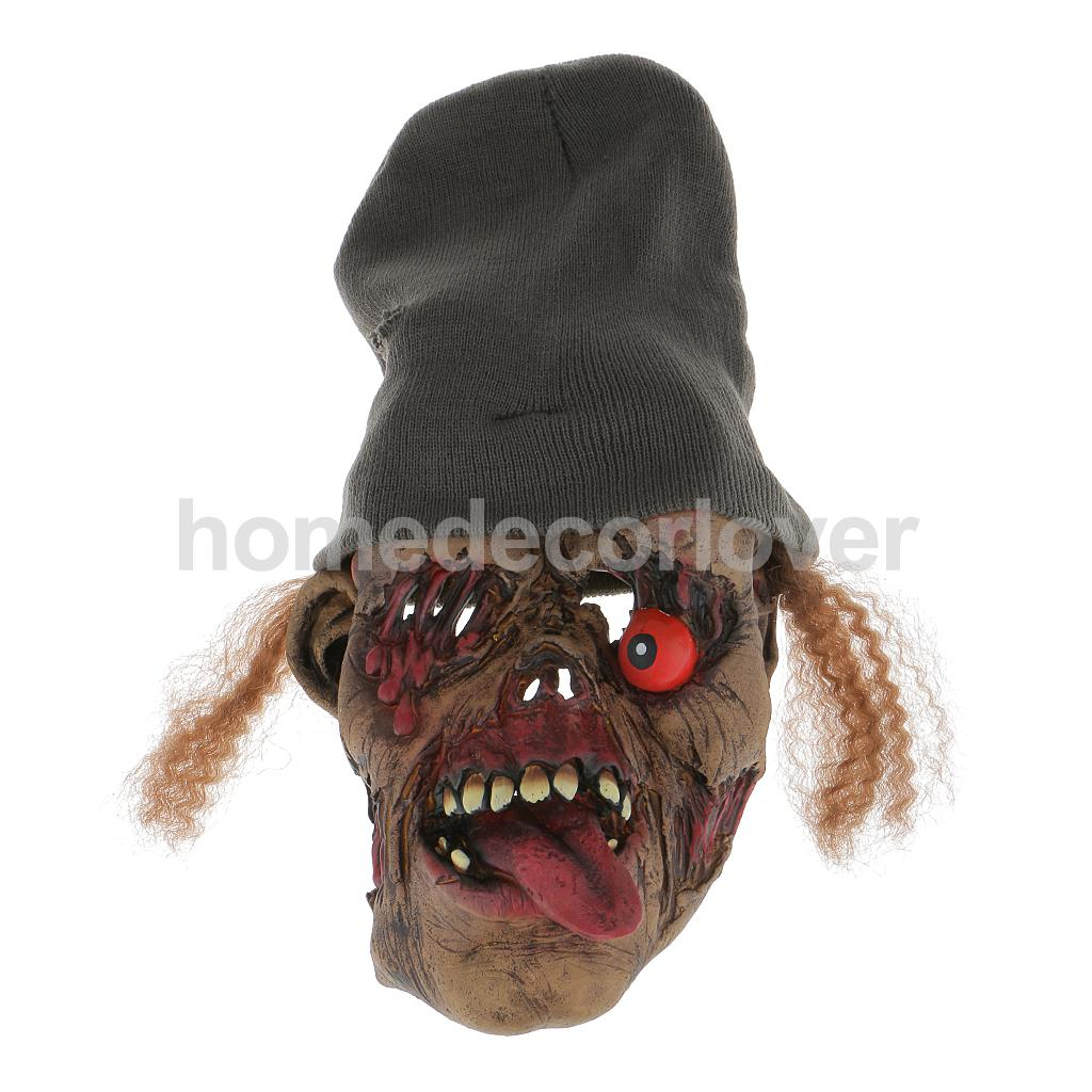 scary halloween devil ghost party funny line cap rotten eyes face