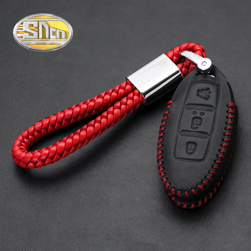 SNCN Microfiber Rope Alloy Key Chain Top Genuine Leather Car key Cover Case For Nissan Leaf Patrol Cube Pulsar Kicks Livina carburetor carb for nissan a12 cherry pulsar vanette truck datsun sunny b210 pulsar truck 16010 h1602 16010h1602 16010 h1602