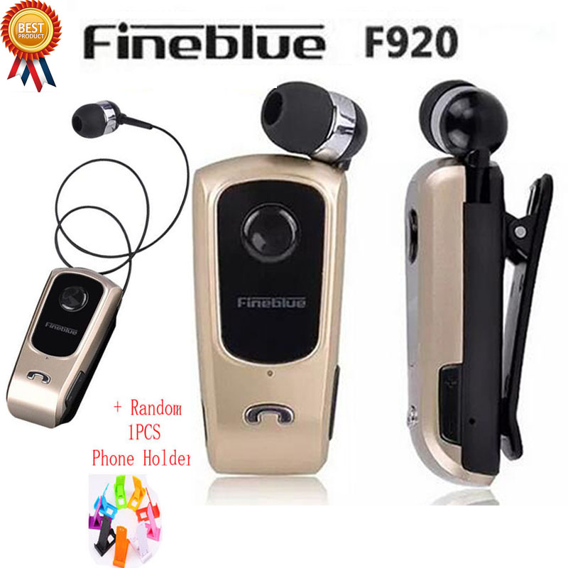 FineBlue F920 Wireless auriculares driver Bluetooth Headset Calls Remind Vibration Wear Clip Sports Running Earphone for Phones