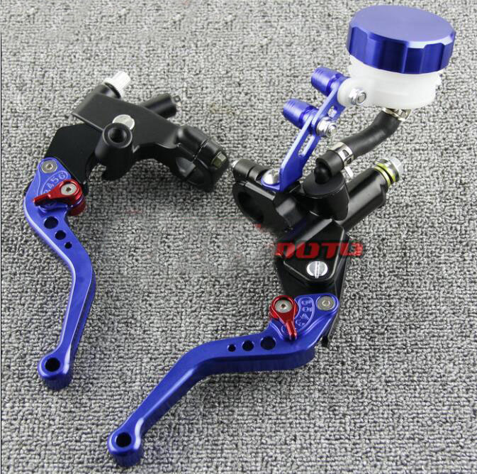 Free Shipping Suitable for 7 / 8'' 22mm Motorcycle Brakes Clutch Brake Levers Master Cylinder - - blue