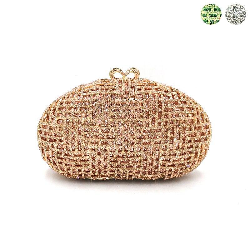 Najnowszy projekt kobiety wieczór party torebki diamenty eleganckie torebki luksusowe sprzęgło ślubne wesele kryształ małe torebki torba w Torby z uchwytem od Bagaże i torby na  Grupa 1