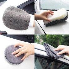 Do Promotion! 9Pcs Microfibre Car Wash Cleaning Tools Set Gloves Towels Applicator Pads Sponge Wheel Brush Kit