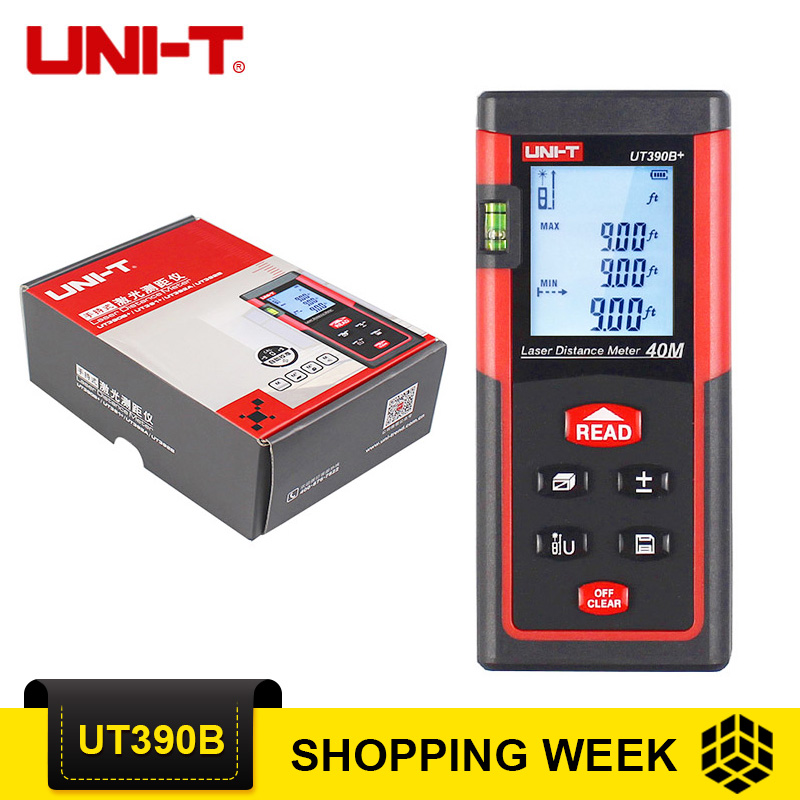 UNI-T UT390B+ Laser Rangefinders+Bubble Level Rangefinder Range UT390B 40m Handheld Laser Distance Meter Rangefinders free shipping 25 90mm cnc water steering rudder steering wheel kit spare parts for rc boat 50 62 74 3mm