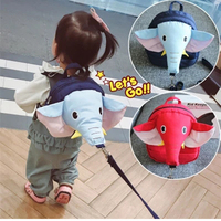 20X20CM 2 in 1 Baby Kids Keeper Assistant Toddler Walking Safety Harness Elephant Backpack Bag Strap Harnesses Leashes