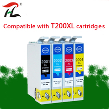 4PK  compatible ink cartridge T200 200xl T2000 T2001XL For Epson color WF2510 WF2520 WF2530 XP300 XP400 XP310 XP410