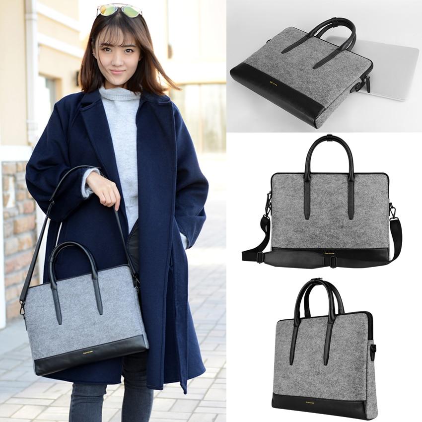 Women Messenger Bags Handbag 11.6 13.3 15.4 Tablet Laptop Wool Felt Laptop Messenger Large Space Case Bag Business Briefcase