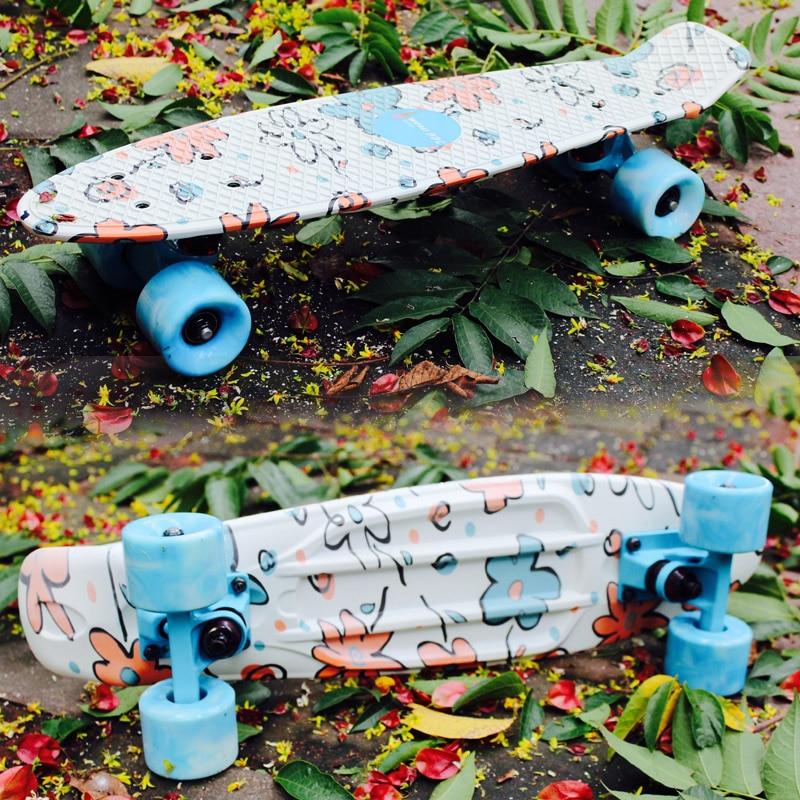 ФОТО Free Shipping Fish board peny board printed mini skateboard deck skate scooter skateboarding board longboard truck skate