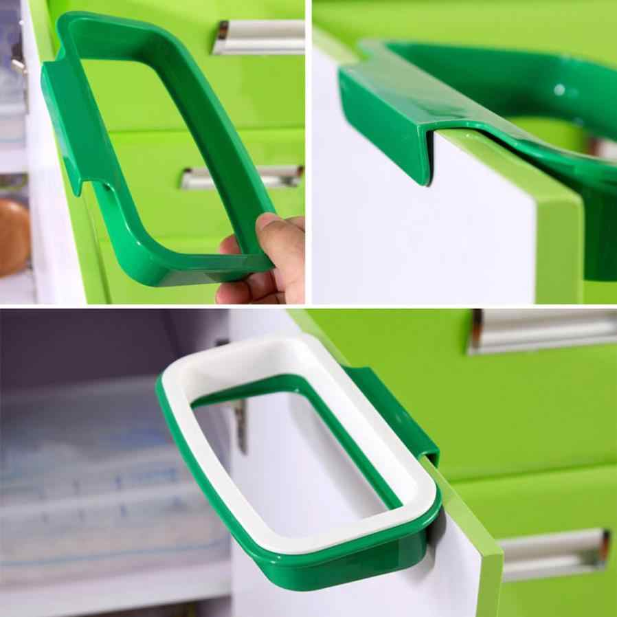 Nueva bolsa de basura con clip, estante de almacenamiento de basura, colgante para cocina de alacena, soporte para puerta de estilo de espalda, bolsa de basura, cubo