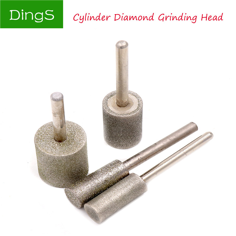 12-40mm Grit 80 Coarse Cylinder Diamond Grinding Head Bit Cylindrical Points
