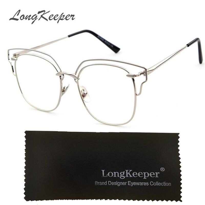 dc085345d0 Plain Eyeglass Frames Vintage Eye glasses Clear lens Optical Glass for Women  Men Retro Frame gafas