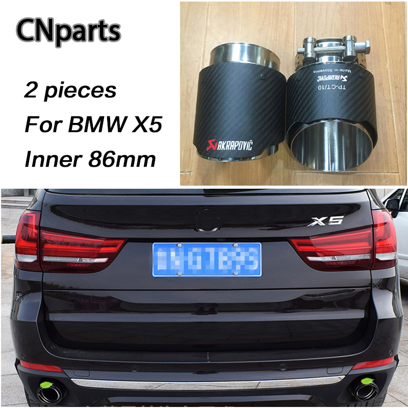 CNparts For BMW X5 E53 E70 X6 E71 F16 X1 F48 Accessories 2015 2016 2017 m Car Exhaust Tips Pipe Muffler Pipe Covers Carbon Fiber exhaust tips on jaguar xe