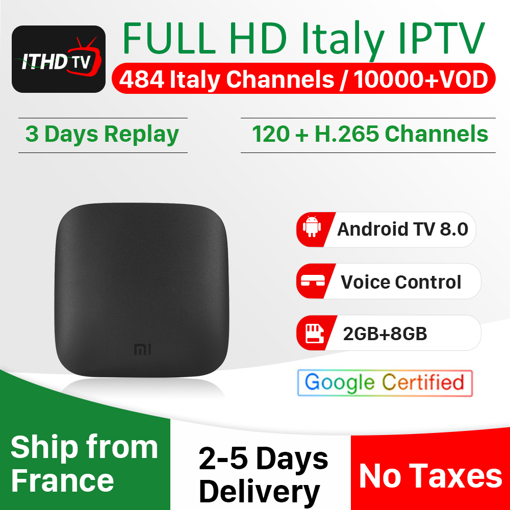 Xiaomi IPTV Italy Turkey IP TV Portugal Algeria IPTV Spain Germany IPTV Subscription Mi Box 3 IP TV Africa Qatar IP TV Italian-in Set-top Boxes from Consumer Electronics
