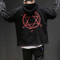 VERSMA Spring Hip Hop Letter Graffiti Printed Hoodies Sweatshirts Men Japanese Harajuku Oversized Hoodie Sweatshirt Men Clothes