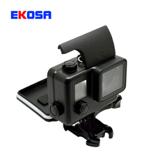 Go pro Accessories Blackout Waterproof Housing Case Shell Box with Buckle Basic Mount Screw for GoPro Hero 4 3+ Action Camera