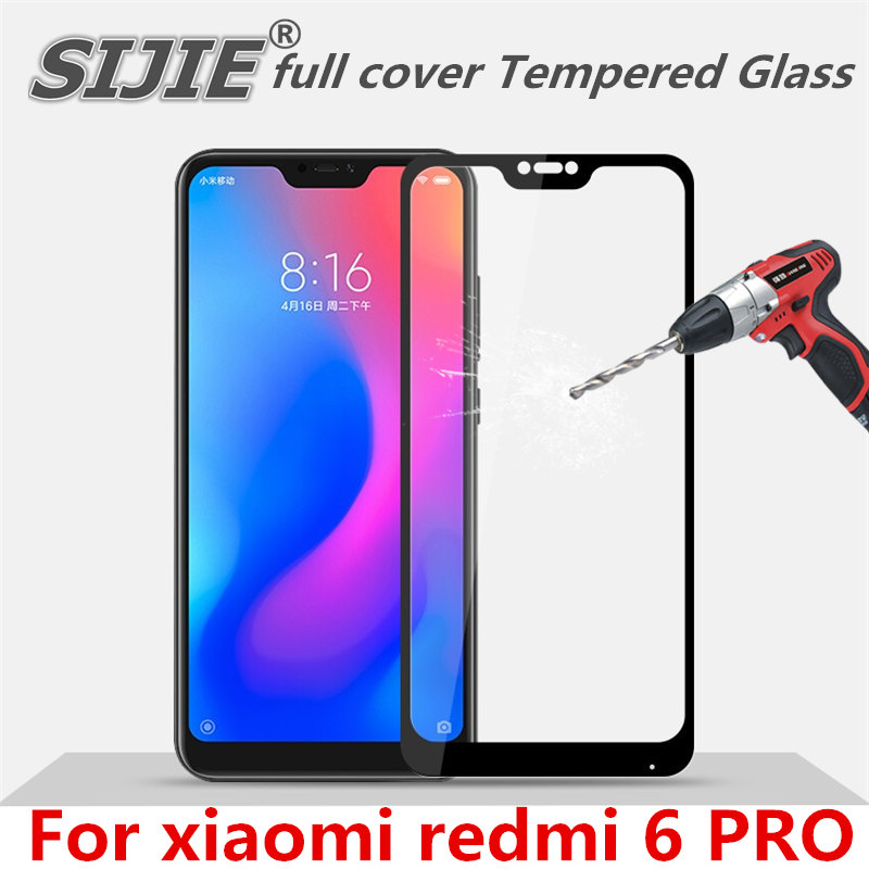 full cover Tempered Glass For xiaomi redmi 6 PRO 6PRO redmi6PRO screen protective toughened case fit in on frame edges Suitable