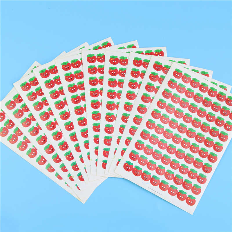 5 Pcs/lot, Cartoon Stars Fruits Reward Adhesive Stickers Children Toys Scrapbook Gift
