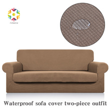 Fancai 2 Sets Waterproof Improved Sofa Covers For Living Room Cover Towel Fabric Combination