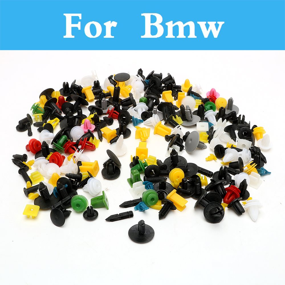 200pcs Car Plastic Cable Mount Clamp Clips Auto Wire Tie For Bmw F30 F10 X3 X5 X6 M 125i E36 E38 E39 E46 E52 E53 E60 E61 E63 E90