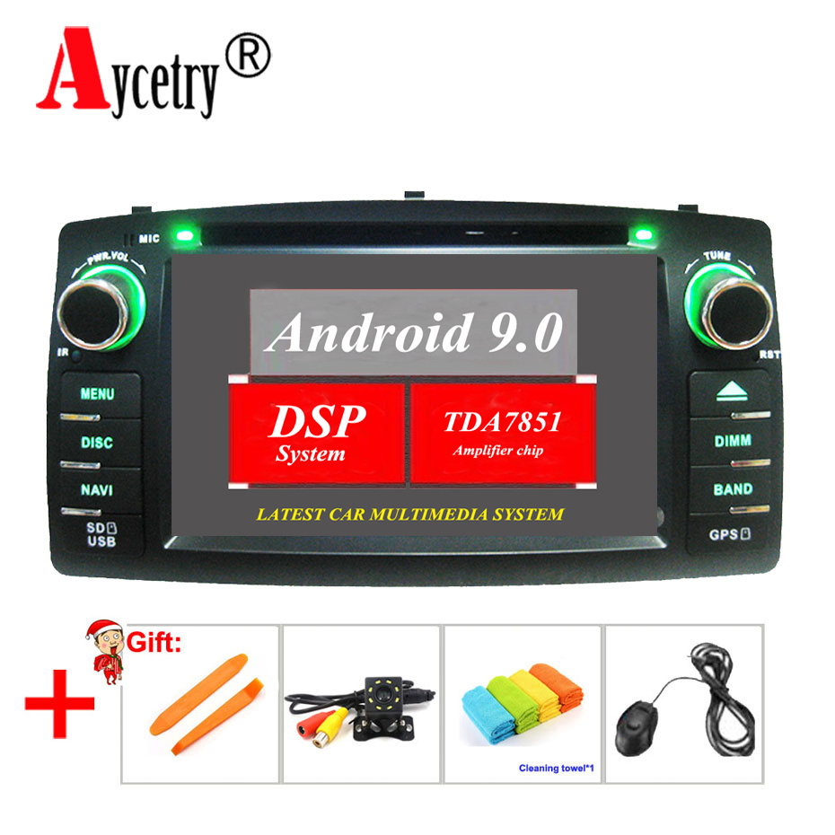 DSP 2 din Android 9 0 car dvd player GPS Navigation autoradio For Toyota Corolla E120