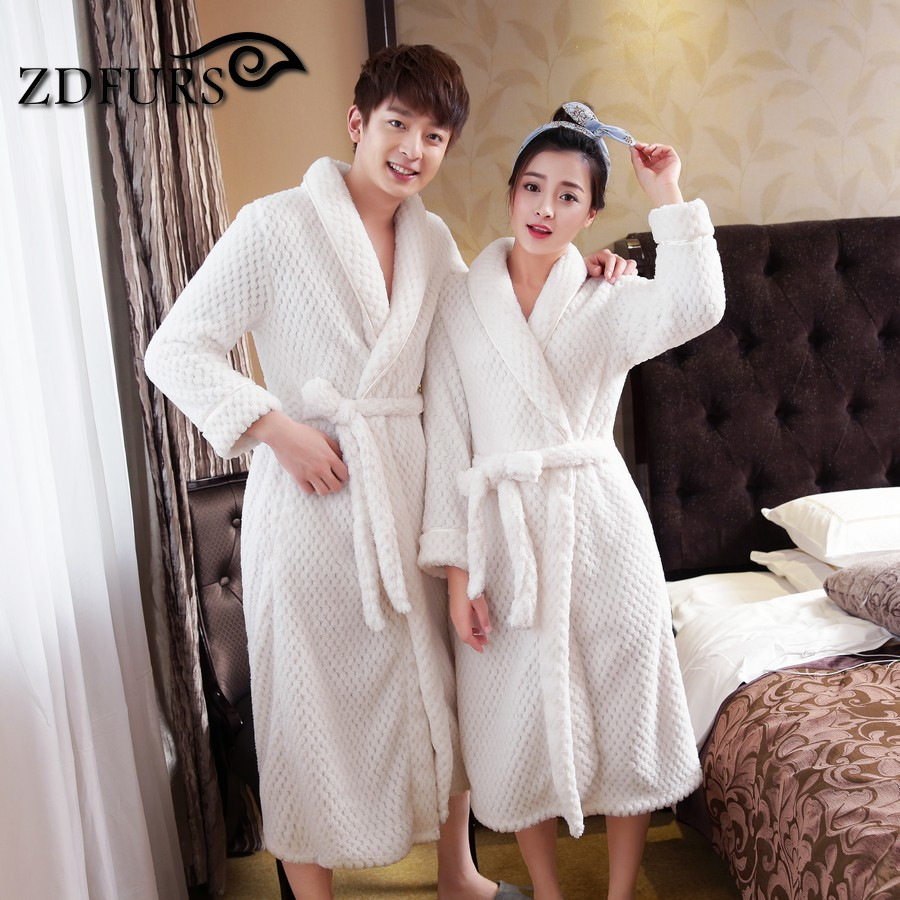 ZDFURS *Hot Sale Womens Thick Waffle Long Kimono Bath Robe ...