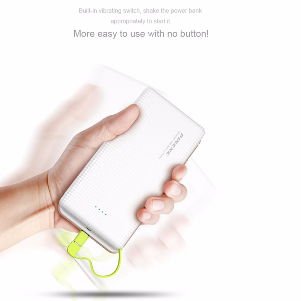 Original PINENG PN 951 10000mAh Portable Fast Charging Battery Mobile Power Bank Dual USB Output Li