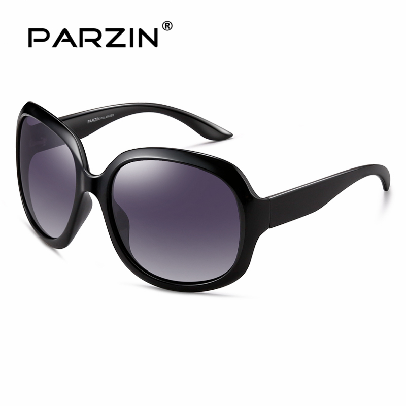 parzin women brand designer sunglasses square elegant female spectacles big frame driving sun glasses with logo