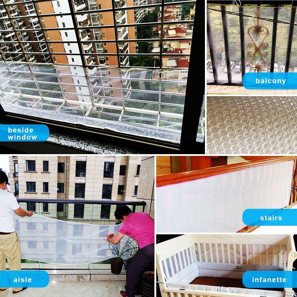 Детская безопасная железная Балконная Лестница защитная сетка для лестничных ограждений для детей/домашних животных/игрушек безопасность на крытых/наружных лестницах, балкон